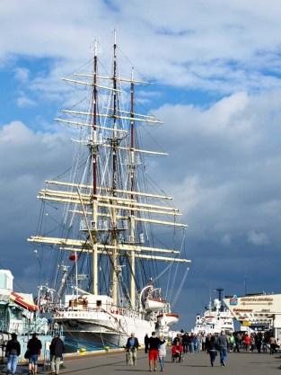Dar Pomorza in port