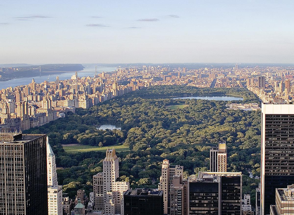 Vista panorámica de Central Park, en Nueva York