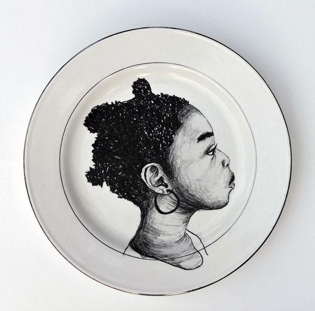 Esta pieza forma parte de instalación titulada The Dinner Table.