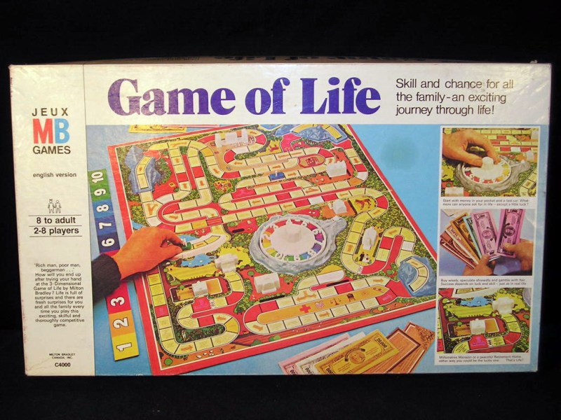 The Best Classic Board Games  The Game of Life   Recycled Thoughts     The Game