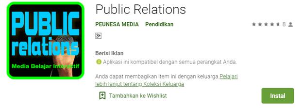 Media Pembelajaran Interaktif Public Relations