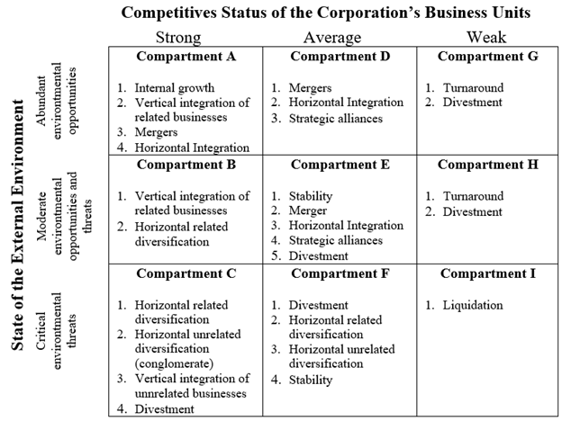 Gambar Matriks SWOT portofolio korporasi