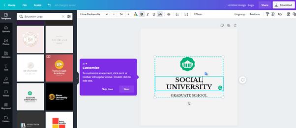 cara membuat logo gratis online