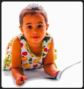 Girl Reading a Magazine