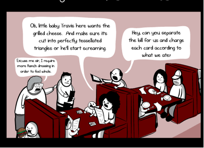Pretty much this, but usually with more crying (me, not the customers). From The Oatmeal