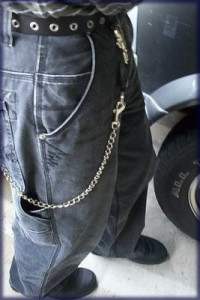 If you went down you had to pray your chain wallet would snag on something before you hit the ground.