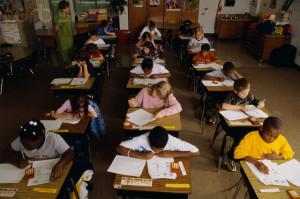 Elementary Students Taking Standardized Test