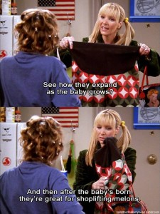 Excluding Phoebe's maternity pants.