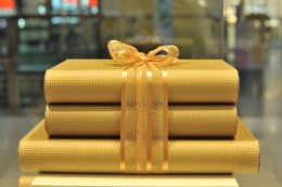 date gift boxes at Al Bateel date shop in Abu Dhabi Mall