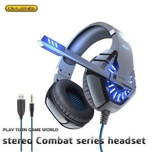 GT82 casque stéréo casque de jeu avec Microphone ordinateur approprié PS4 Mobile OVLENG Usb + 3.5mm réduction du bruit faible Accent