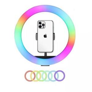 Ring light RGB multicolores 33 centimètres