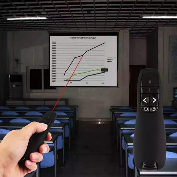 Présentateur sans fil avec pointeur Laser, stylo Laser sans fil RF à lumière rouge, télécommande USB 2.4GHz pour présentation PPT