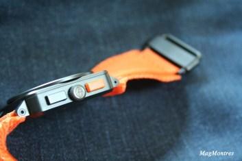 Montre BR 03-94 Carbon-Orange Ltd, couronne et bracelet - Bell & Ross