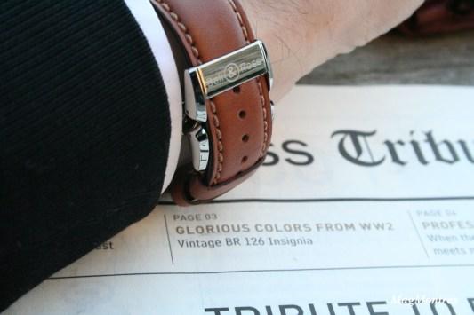 Bracelet en cuir naturel et boucle déployante