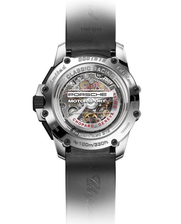 Fond saphir de la montre Chopard SuperfastChrono Porsche 919 Edition
