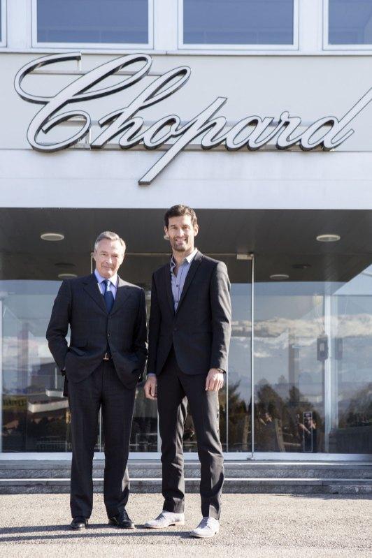 Mark Webber, ambassadeur Chopard