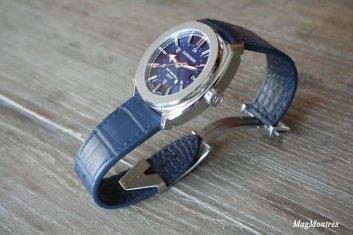 JeanRichard Terrascope cadran bleu GMT - Réf 60520-11-401-FB4A