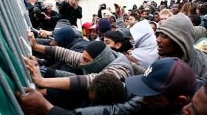 imigranti protestatari