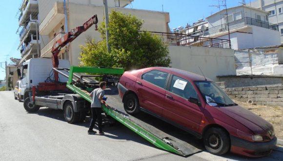 Ολοκληρώθηκε η περισυλλογή εγκαταλελειμμένων οχημάτων στο Βελεστίνο Δήμου Ρήγα Φεραίου