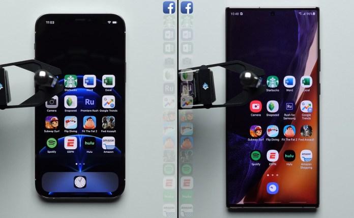 IPhone 12 Pro Vs Galaxy Note 20 Ultra: Το απόλυτο Speed Test [βίντεο]
