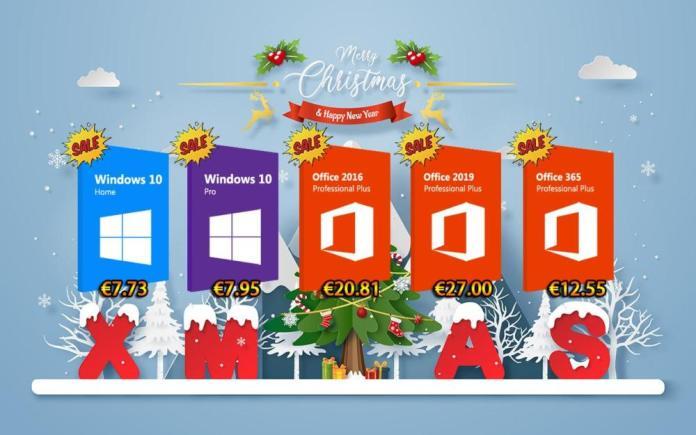 Χριστουγεννιάτικες προσφορές σε Windows 10 Pro με €7.95 και Office 2016 Pro με €20