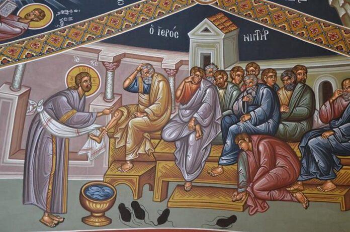 Μεγάλη Τετάρτη :Ακολουθία του Νιπτήρος Το Ιερό Μυστήριο του Ευχελαίου στους Ναούς του Βόλου