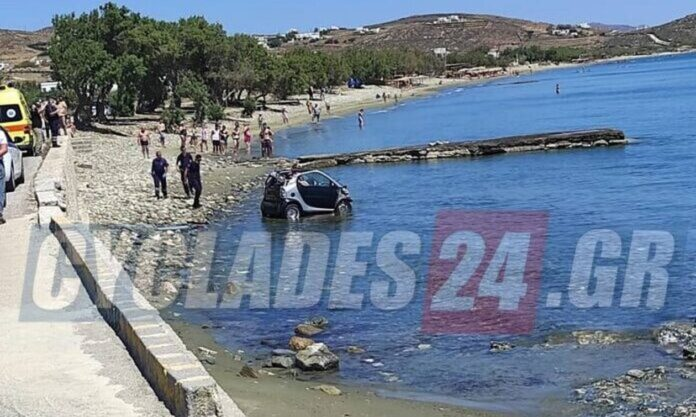 Προσπάθησε να αποφύγει τη σύλληψη κι έπεσε με το αμάξι στη θάλασσα