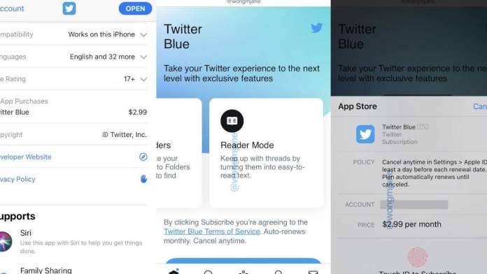 To Twitter Blue θα ζητά συνδρομή για εξτρά υπηρεσίες
