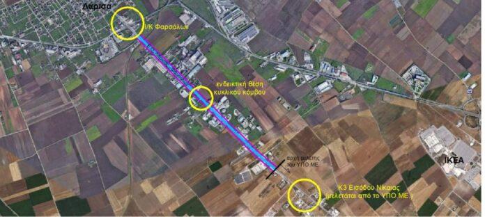 Στο ΕΣΠΑ Θεσσαλίας 2014 2020 η χρηματοδότηση της μελέτης από νότια παράκαμψη Λάρισας έως αρχή παράκαμψης Νίκαιας