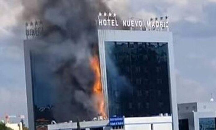 Συναγερμός στη Μαδρίτη – Φωτιά σε γνωστό ξενοδοχείο