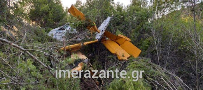 Πτώση μικρού πυροσβεστικού αεροσκάφους PZL στην Ζάκυνθο – Σώος ο πιλότος