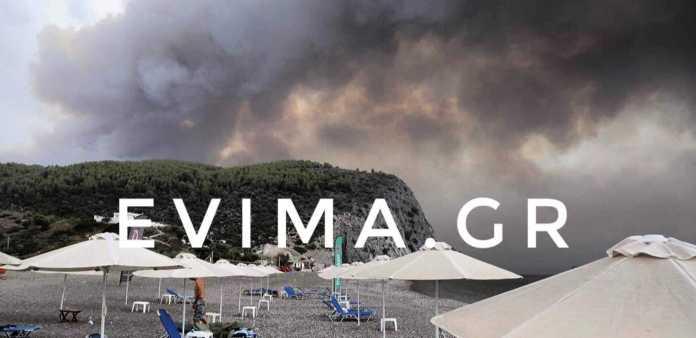 Φωτιά στην Εύβοια: Έφτασε στην θάλασσα και γύρισε ξανά προς την Στροφυλιά