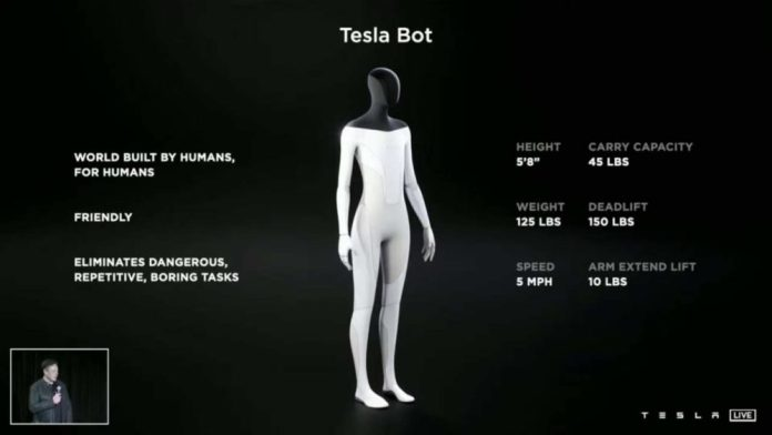 Tesla Bot: Ο Elon Musk αναπτύσσει ανθρωποειδές ρομπότ με AI