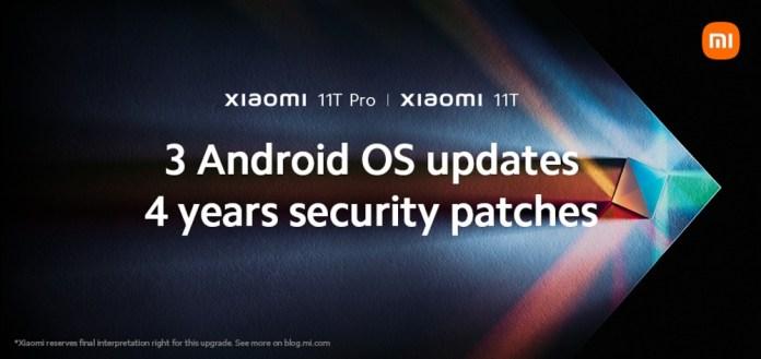 Xiaomi 11T Series: Αναβαθμίσεις για τρεις γενιές Android
