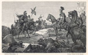 Scipio Africanus meeting Hannibal at Battle of Zama