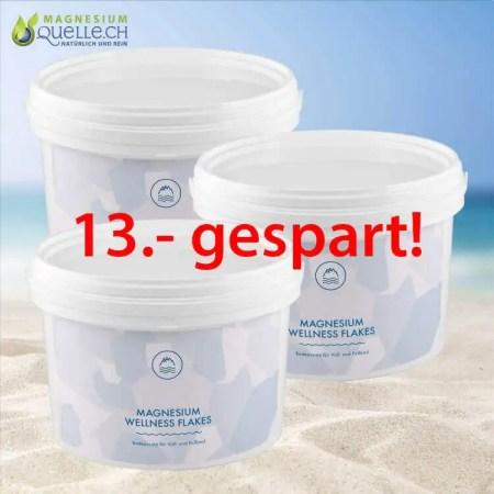Magnesium Flakes 3er Set 3000 g kaufenMagnesium Flakes 3er Set 3000 g kaufen
