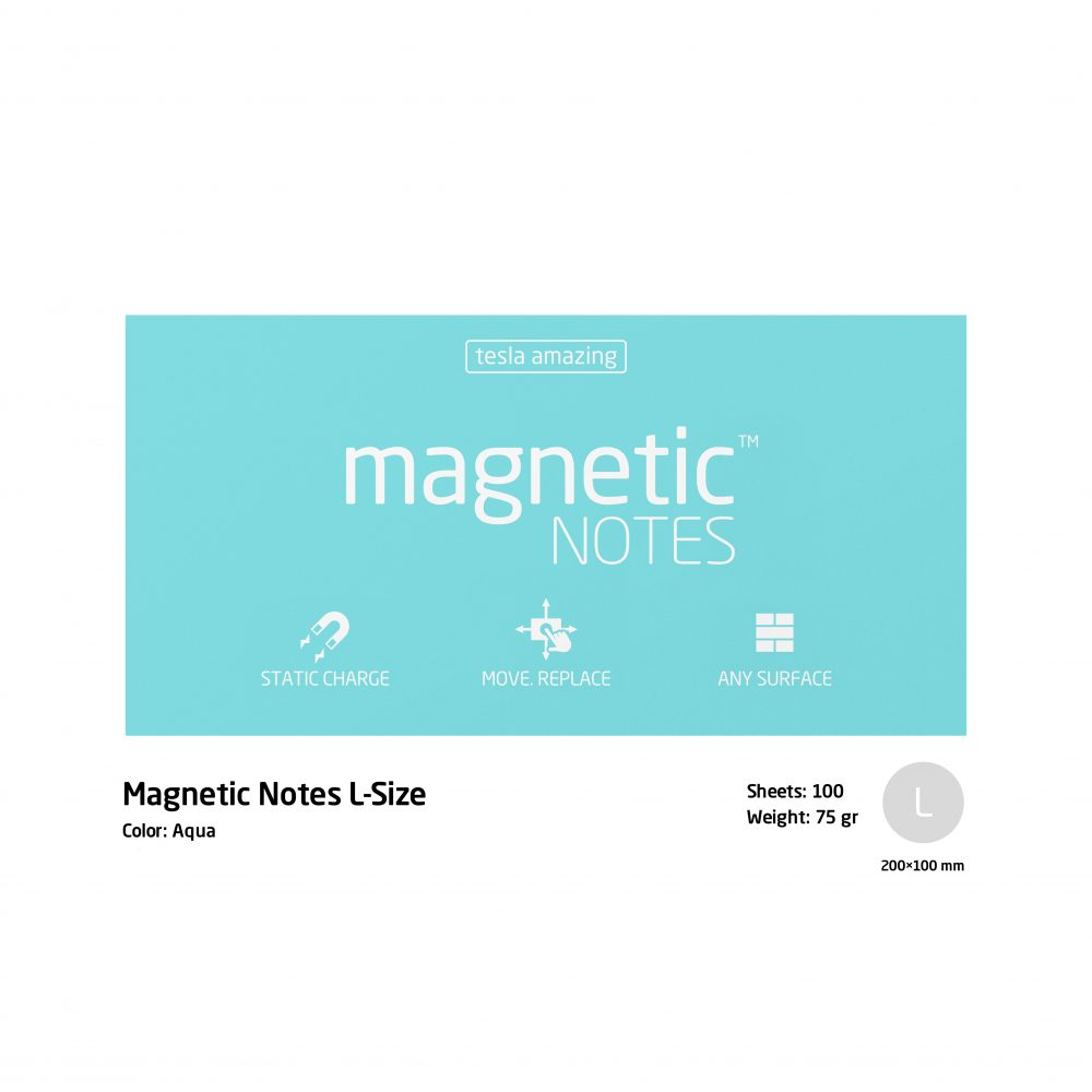 Magnetic notes large aqua