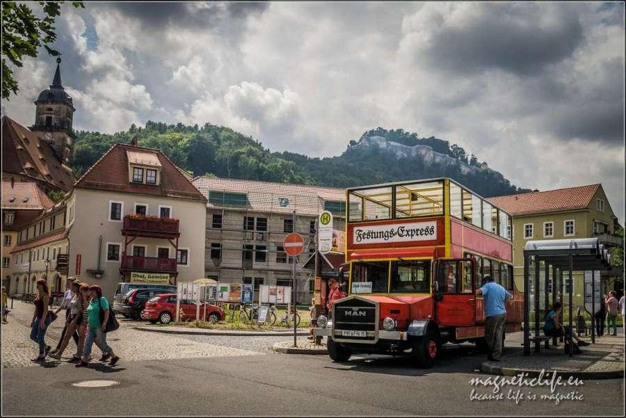Autobus dotwierdzy Königstein