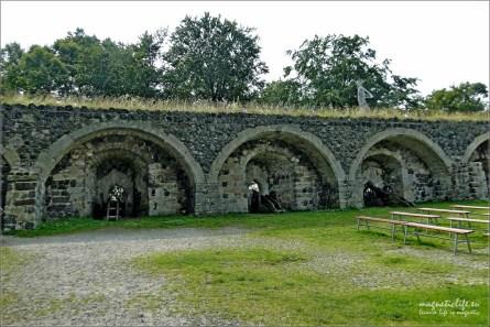 Mury obronne zamku Stolpen