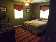 Upstairs Green Room - Lockable w/ private full bath. Separate A/C & heat controls.