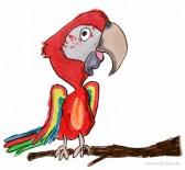 Cartoon Papagei