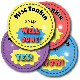 Personalised Teacher Reward Stickers – Bright Expressions