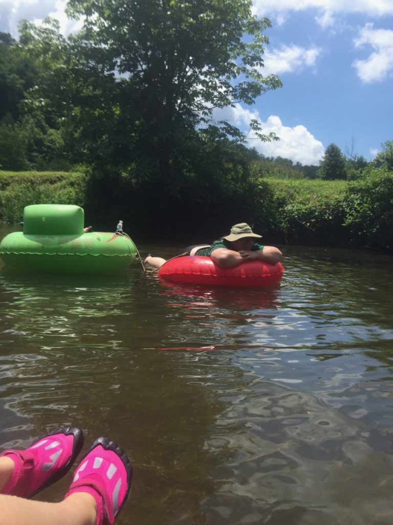 Relaxing while Tubing in Boone