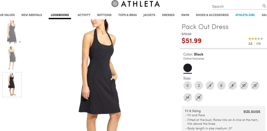 Athleta Pack Out Dress
