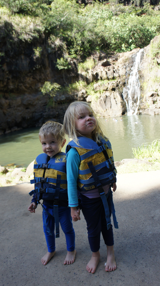 Waimea Falls with toddlers