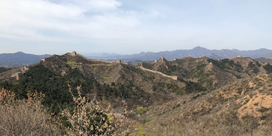The Great Wall of China with kids
