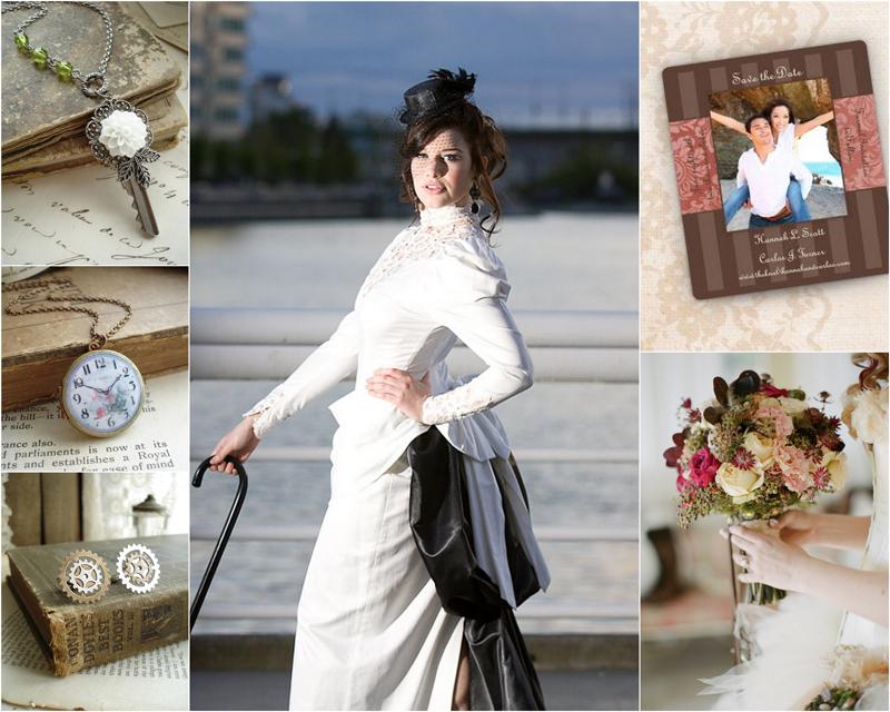 Victorian Steampunk Wedding InspirationVictorian Steampunk