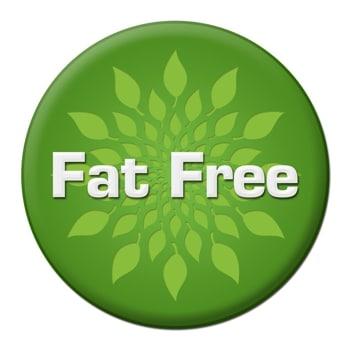 fat free food label