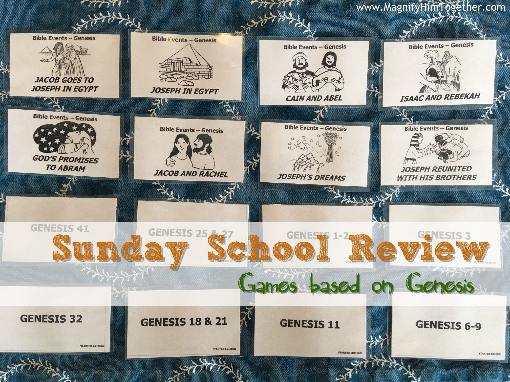 Sunday School Review – Genesis Games – Magnify Him Together