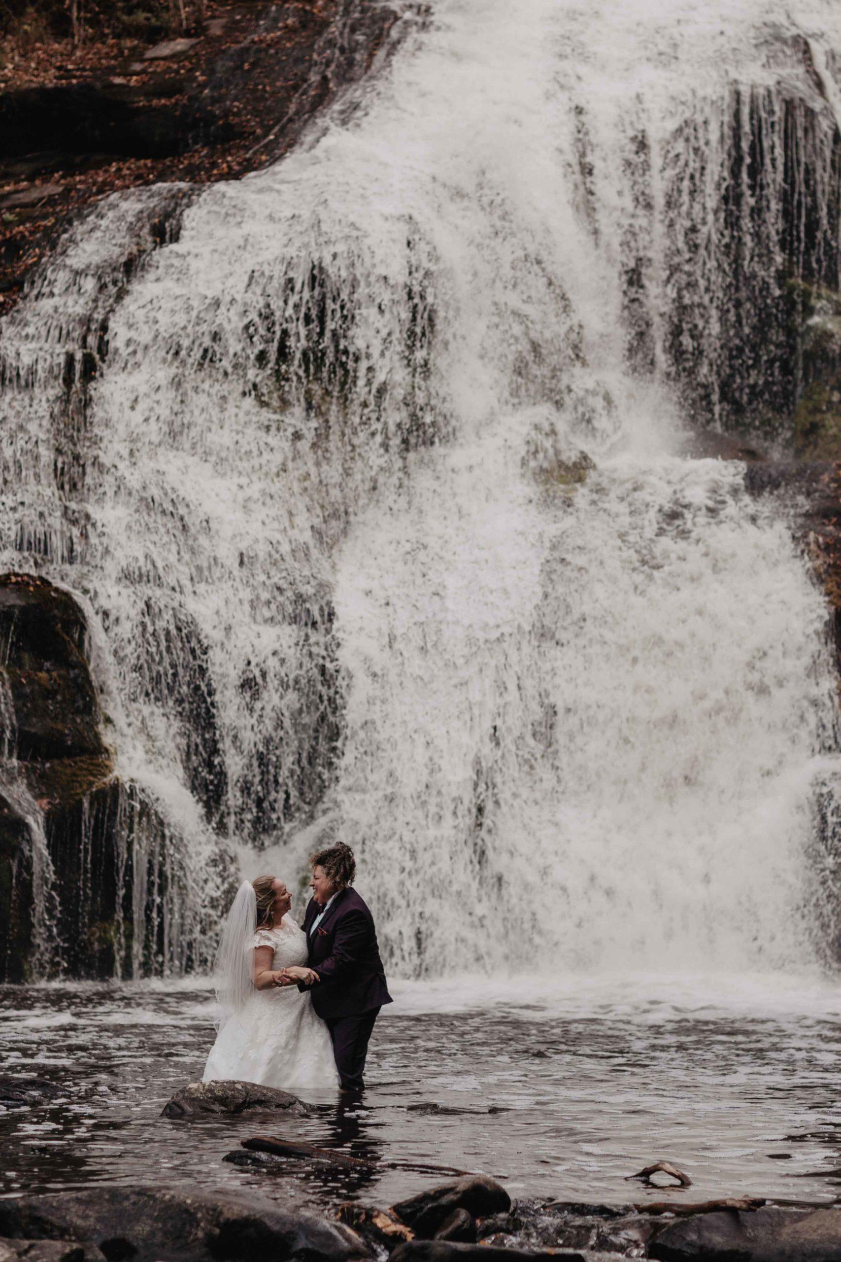 Bald River Falls LGBT Wedding | Adventure Elopement Photographer